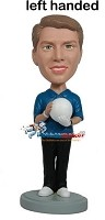Custom Bobble Head | Standing Left-Handed Bowler Male Bobblehead | Gift Ideas For Men