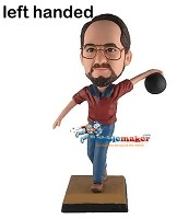 Custom Bobble Head | Left-Handed Male Bowler Bobblehead | Gift Ideas For Men