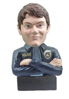 Custom Head bust - male officer crossed arms (non bobble)