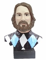 Custom Head bust - male argyle sweater (non bobble)