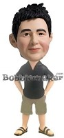 Custom Bobble Head | Shorts And Polo Male Bobblehead | Gift Ideas For Men