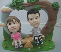 Custom Bobble Head | See Saw Couple Bobblehead | Gift Ideas For Couples