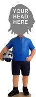 Custom Bobble Head | Casual Cyclist With Helmet Bobblehead | Gift Ideas For Men