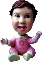 Custom Bobble Head | Baby With Rattle Bobblehead | Gift Ideas For Kids