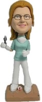 Custom Bobble Head | Dentist Woman With Tooth Bobblehead | Gift Ideas For Women