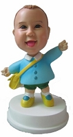 Custom Bobble Head | Dancing Girl With Satchel Bobblehead | Gift Ideas For Kids