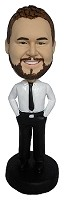 Custom Bobble Head | No Jacket Required Male Bobblehead | Gift Ideas For Men