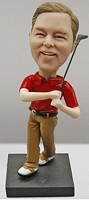 Custom Bobble Head | Golfing Male With Club Bobblehead | Gift Ideas For Men