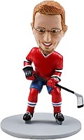 Custom Bobble Head | Stick And Skates Hockey Player Bobblehead | Gift Ideas For Men