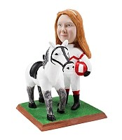 Custom Bobble Head | Woman With Horse Bobblehead | Gifts For Women