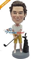 Custom Bobble Head | Golfer Male With Club Bobblehead | Gift Ideas For Men