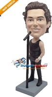 Custom Bobble Head | Rock Singer Male Bobblehead | Gift For Men