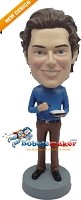 Custom Bobble Head | Writing Man Bobblehead | Gift Ideas For Men