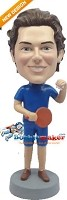 Custom Bobble Head | Ping Pong Playing Man Bobblehead | Gift Ideas For Men