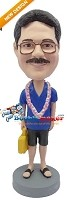 Custom Bobble Head | Just Got Lei-Ed Male Bobblehead | Gift For Men