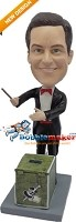 Custom Bobble Head | Magician With Box Bobblehead | Gift For Men