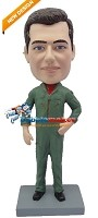 Custom Bobble Head | Man In Flight Suit Bobblehead | Gift For Men