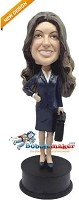 Custom Bobble Head | Businesswoman With Briefcase Bobblehead | Gift Ideas For Women