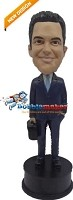 Custom Bobble Head | Suit Businessman Bobblehead | Gift For Men
