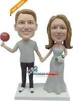 Basketball Man With Wife bobblehead Doll
