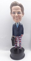 Custom Bobble Head | Executive Male With Briefcase And Color Pants Bobblehead | Gift Ideas For Men