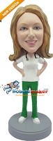 Custom Bobble Head | Doctor Female With Stethoscope Bobblehead | Gift Ideas For Women