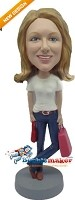 Custom Bobble Head | Super Shopper Female Bobblehead | Gift Ideas For Women