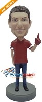 Custom Bobble Head | Male Football Fan Bobblehead | Gift Ideas For Men