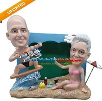 Custom Bobble Head | Couple Beach Me Bobblehead | Gift Ideas For Couples