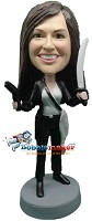 Custom Bobble Head | Female Pirate Bobblehead | Gift For Women