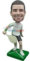 Custom Bobble Head | Male Tennis Player Back Hand Bobblehead | Gift Ideas For Men