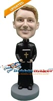Custom Bobble Head | Priest With Bible Bobblehead | Gift Ideas For Men