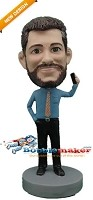 Custom Bobble Head | Businessman Talking On Phone Bobblehead | Gift For Men