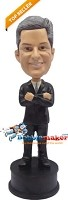 Custom Bobble Head | Arms Crossed Businessman Bobblehead | Gift Ideas For Men