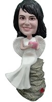 Custom Bobblehead | Angel Female Sitting On Rock Bobblehead