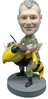 Custom Bobble Head | Navy Sea Bee Man Bobblehead | Gift Ideas For Men