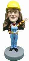 Custom Bobble Head | Construction Female Bobblehead | Gift Ideas For Women