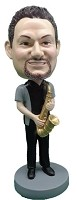 Custom Bobble Head | Saxophone Player Man Bobblehead 3 | Gift For Men