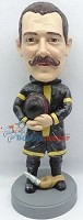 Custom Bobble Head | Fireman Holding Hat Bobblehead | Gift Ideas For Men