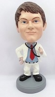 Custom Bobble Head | Open Coat Male Doctor Bobblehead | Gift Ideas For Men