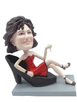 Custom Bobble Head | Sexy Woman In Shoe Chair Bobblehead | Gift Ideas For Women