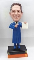 Custom Bobble Head | Pointing At Degree Graduate Male Bobblehead | Gift Ideas For Men