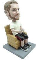 Custom Bobble Head | Video Game Player In Chair Bobblehead | Gift Ideas For Men