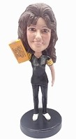 Custom Bobble Head | Steelers Fan Bobblehead (Female) | Gift Ideas For Women