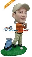 Custom Bobble Head | Swinging Male Golfer Bobblehead | Gift Ideas For Men