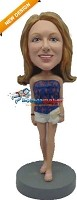 Custom Bobble Head | Summer Fashion Woman Bobblehead | Gift Ideas For Women