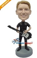 Custom Bobble Head | Rocker With Guitar Male Bobblehead | Gift Ideas For Men