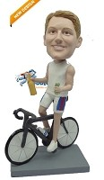 Male Cyclist bobblehead Doll