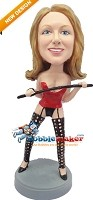 Custom Bobble Head | Sexy Woman With Whip Bobblehead | Gift Ideas For Women