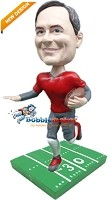 Custom Bobble Head | Football Male On Gridiron Bobblehead | Gift For Men